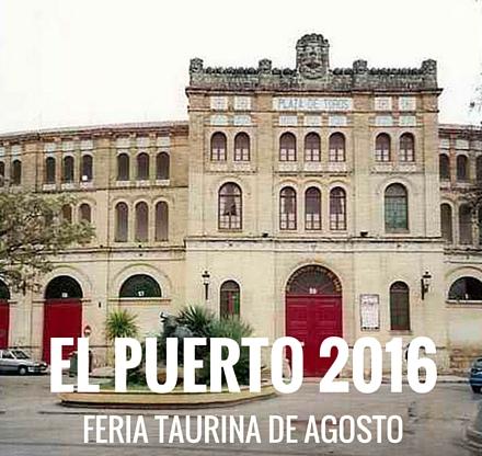 Entradas toros El Puerto 2016